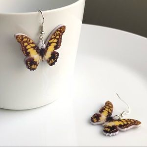 Jewelry - NEW Acrylic Swallowtail Butterfly Earrings